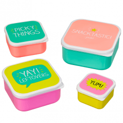 Snack Boxes Snacktastic set of 4