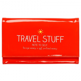 """Travel Stuff"" Red Travel Wallet"