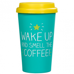 Wake Up & Smell The Coffee Travel Mug