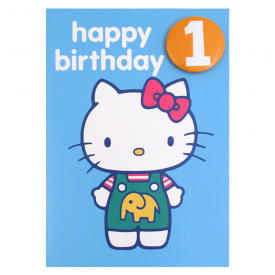 Age 1 Badge Birthday Card