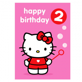 Age 2 Badge Birthday Card