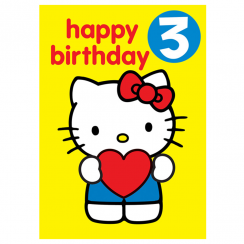 Age 3 Badge Birthday Card