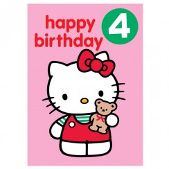 Age 4 Badge Birthday Card