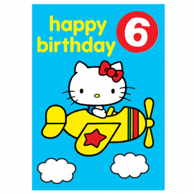 Age 6 Badge Birthday Card