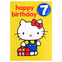 Age 7 Badge Birthday Card