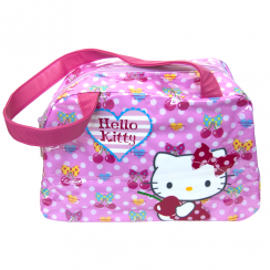 Cherry Bow Pink Boston Bag