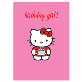 Pink Birthday Girl Cake Card