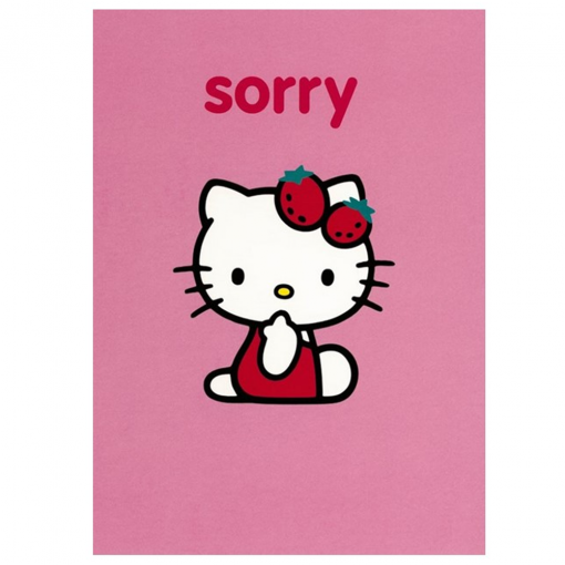 Hello kitty pink sorry greetings card at flamingo gifts hello kitty pink sorry greetings card m4hsunfo