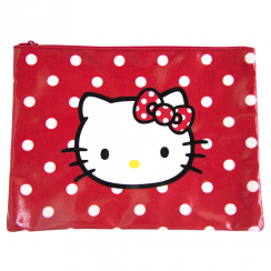 Red Flat Polka Dot Pouch