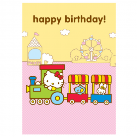 Train Birthday Greetings Card