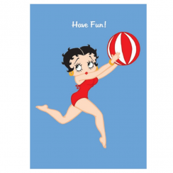 Beachball Betty Boop Card