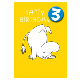 Moomin Age 3 Badge Greeting Card