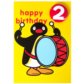 Pingu Age 2 Badge Greeting Card