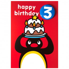 Pingu Age 3 Badge Greeting Card