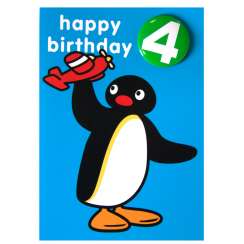 Pingu Age 4 Badge Greeting Card