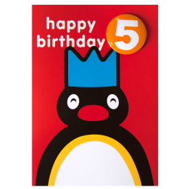 Pingu Age 5 Badge Greeting Card