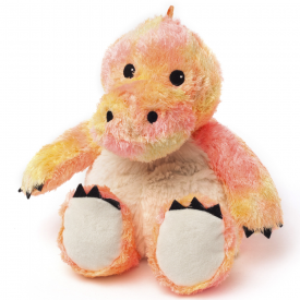 Cozy Plush Microwavable Orange Rainbow Dinosaur