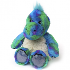 Cozy Plush Microwavable Rainbow Blue Dinosaur