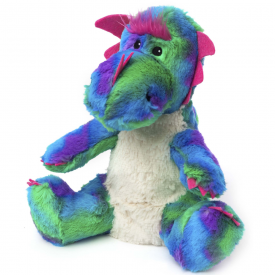 Cozy Plush Microwavable Rainbow Dragon