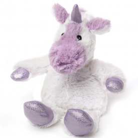 Cozy Plush Microwavable Sparkly White Unicorn