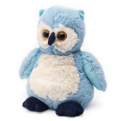 Microwavable Cosy Plush Blue Owl