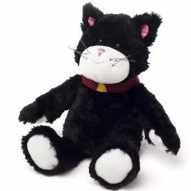 Microwavable Cozy Plush Black Cat