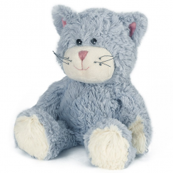 Microwavable Cozy Plush Blue Cat