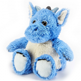 Microwavable Cozy Plush Blue Dragon