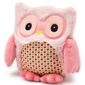 Pink Microwavable Hooty Owl