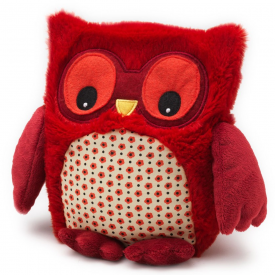 Red Microwavable Hooty Owl