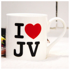 I ♥ JV Bone China Mug