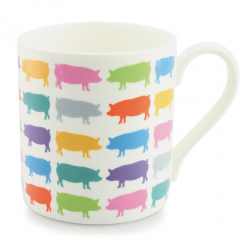 Multicolored Repeat Pigs Mug