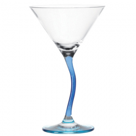 Modella Wonky Blue Cocktail Glass