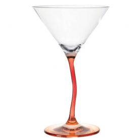 Modella Wonky Red Cocktail Glass
