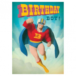 Boom Superhero Birthday Card