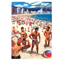 Boys on the Beach Card