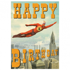 Hero Happy Birthday Card