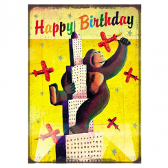 King Kong Birthday Card