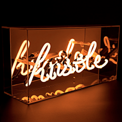 Neon Hustle Orange Sign Acrylic Box Light
