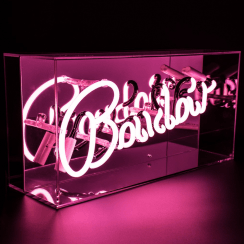Neon Pink Boudoir Sign Acrylic Box Light