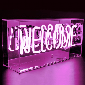 Neon Welcome Pink Sign Acrylic Box Light