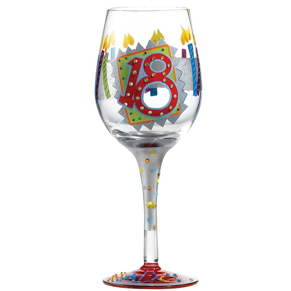 Lolita 18th Birthday Wine Glass Available From Flamingo Gifts