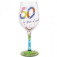 50 Is Just a Number Wine Glass
