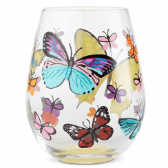 Butterflies Tumbler Glass