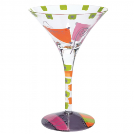 Cosmopolitan Hand-painted Martini Glass