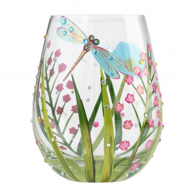 Dragonfly Stemless Glass, Tumbler