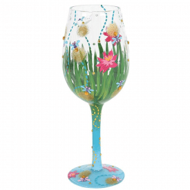 Firefly Hand Painted Wine Glass