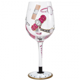 Five O'clock Somewhere Wine Glass