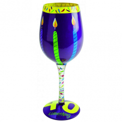 Forty Something Wine Glass
