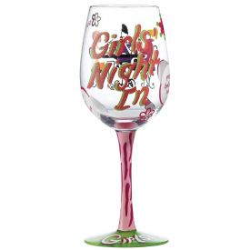 Girl's Night In Wine Glass